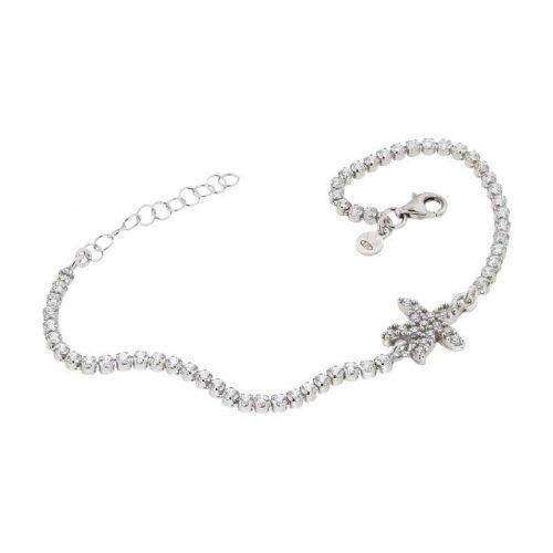 Sterling Silver Starfish Tennis Bracelet