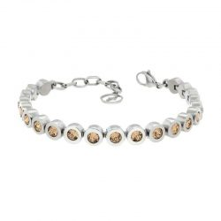 Sterling Silver Bracelet with Light Colarado Swarovski Stones