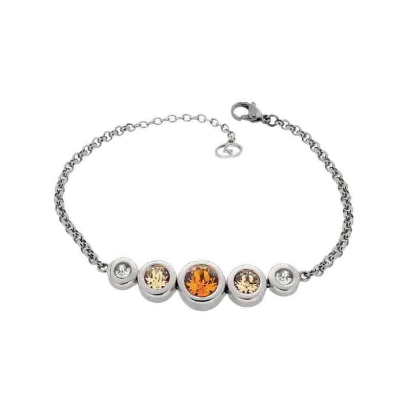 Stainless Steel Bracelet with Swarovski Stones