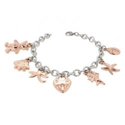 Sterling Silver Bracelet with Charms