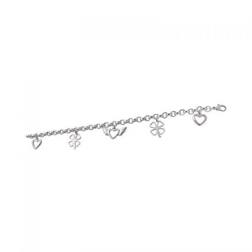 Stainless Steel Bracelet with Charms