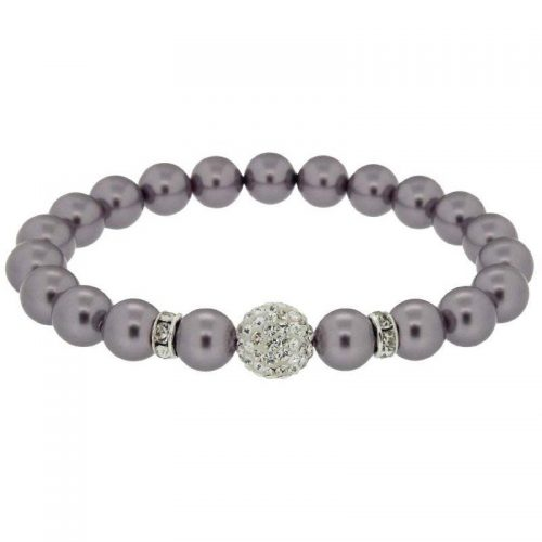 Lilac Swarovski Pearl Bracelet