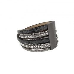 Shaded Grey and Brown Multi-Colour Multi Wire Leather Bracelet