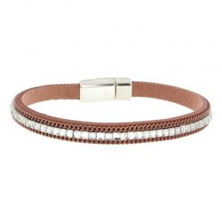 Pink Imitation Leather Bracelet