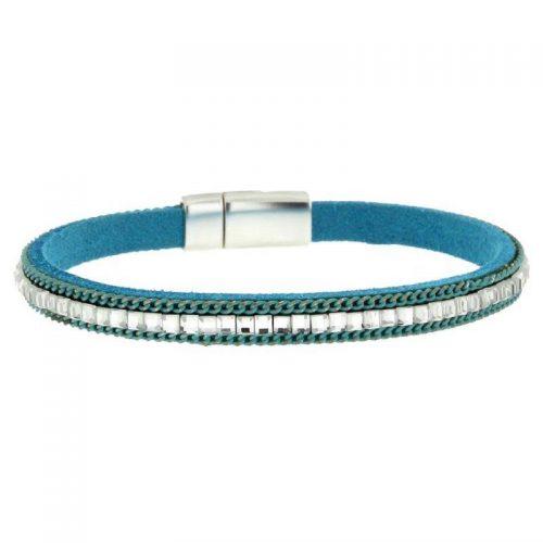 Turqouise Imitation Leather Bracelet