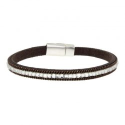 Brown Imitation Leather Bracelet