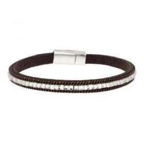 Brown Imitation Leather Bracelet