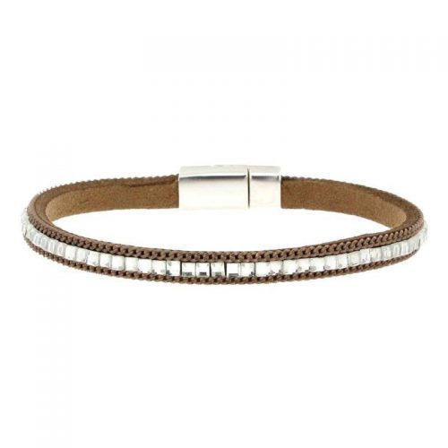 Beige Imitation Leather Bracelet