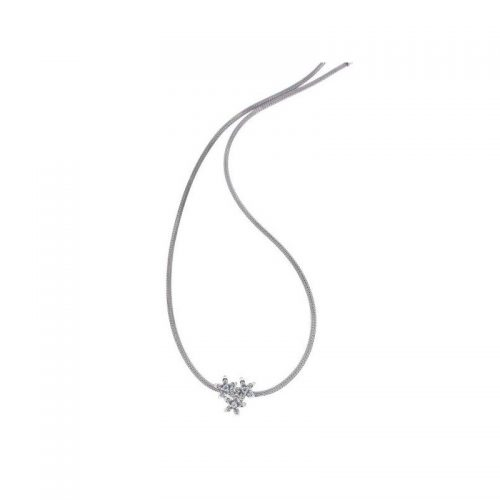Sterling Silver Braided Flower Necklace