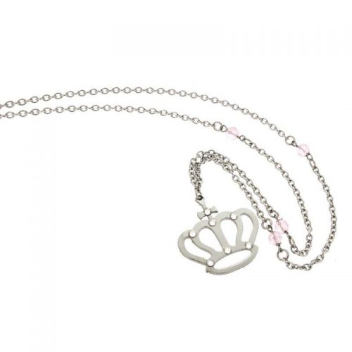 Stainless Steel Crown Necklace