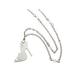 Stainless Steel Shoe Necklace