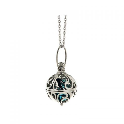 Stainless Steel Round Cage Necklace