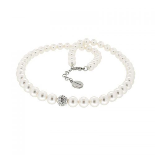 White Swarovski Pearl Necklace