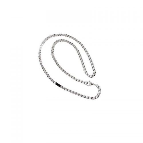 Stainless Steel Necklace with Black PVD insert