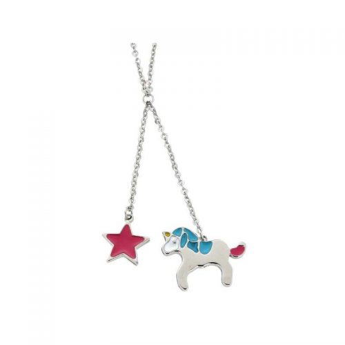 Stainless Steel Star & Unicorn Necklace