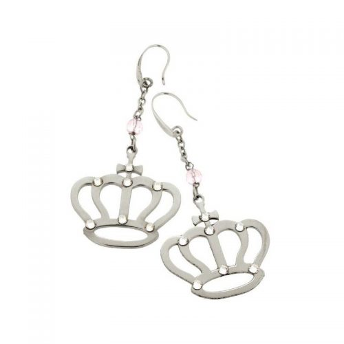 Stainless Steel Crown Earrings