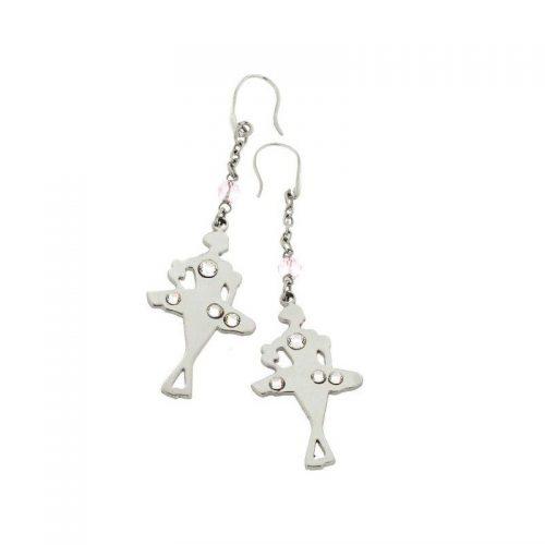 Stainless Steel Ballerina Earrings