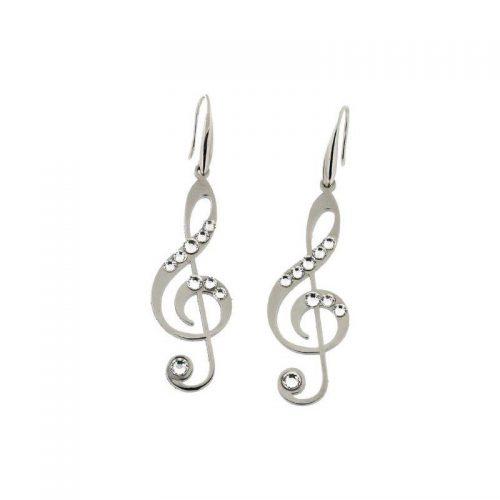 Stainless Steel Music Note Earrings