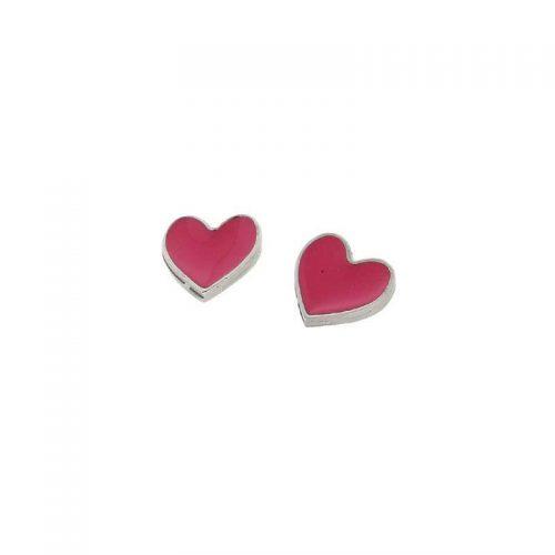 Stainless Steel Heart Lobe Earrings