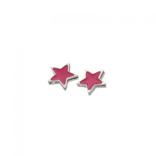 Stainless Steel Star Lobe Earrings
