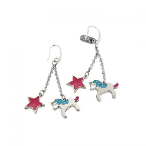 Stainless Steel Star & Unicorn Earrings
