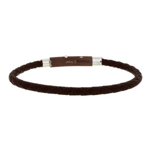 Woven Brown Leather Bracelet