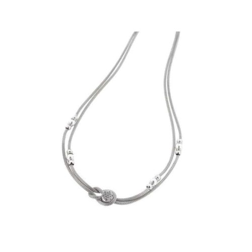Sterling Silver 2-Wire Braid Necklace