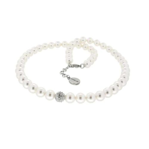 White Imitation Pearl Necklace