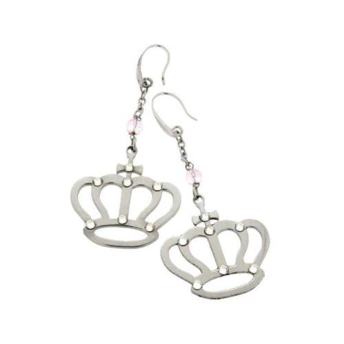 Stainless Steel Crown Earrings
