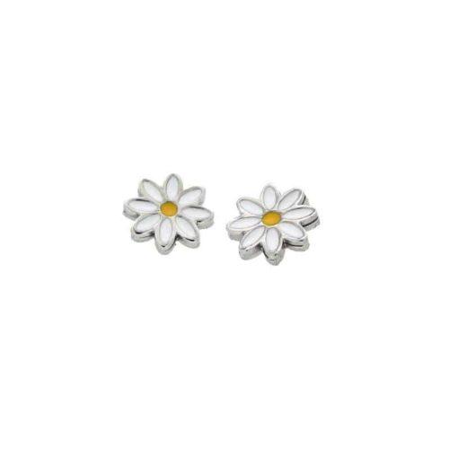 Stainless Steel Daisy Lobe Earrings