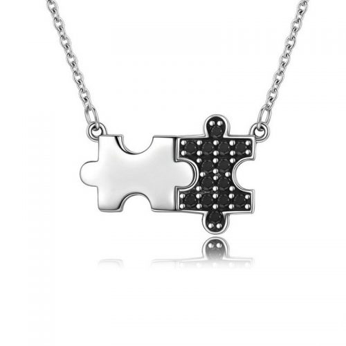 Mystery Puzzle Pendant Necklace