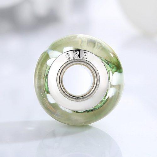 White Flower Glass BeadWhite Flower Glass Bead Charm