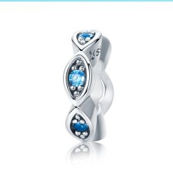 Glittering Blue Eye Stopper Charm