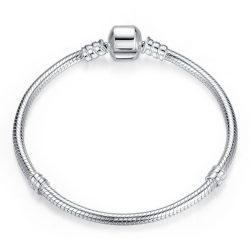 Snake Chain Clasp Charm Bracelet