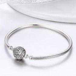 Shiny Round Ball Snake Chain Charm Bracelets