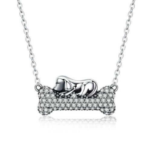 Doggy's Dream Bone Pendant Necklace