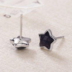 Black Star Stud Earrings