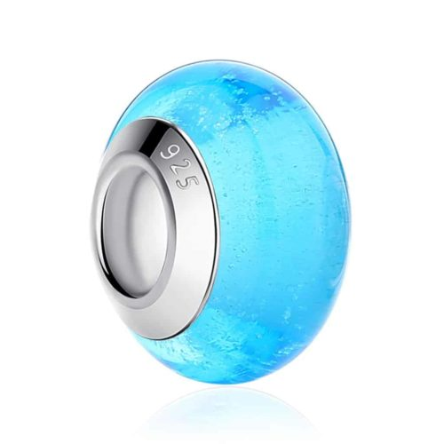 Turquoise Glass Bead Charm