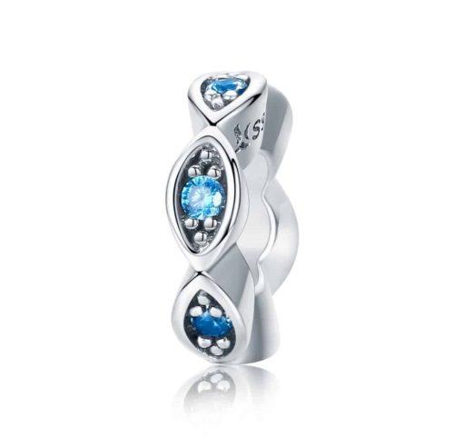 Glittering Blue Eye Stopper Charm