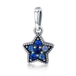 Shiny Blue Star Charm