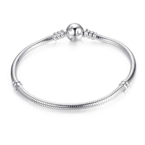 Sparkling Ball Snake Chain Charm Bracelet