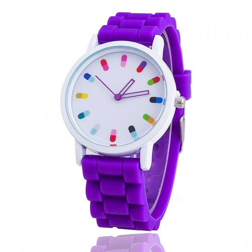 Colourful Dial Analogue Watch