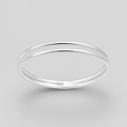 Silver Double Band Ring