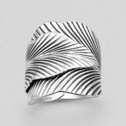 Silver Wrap Leaf Ring