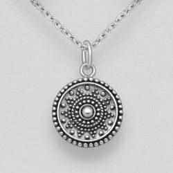 Silver Ball Circle Pendant