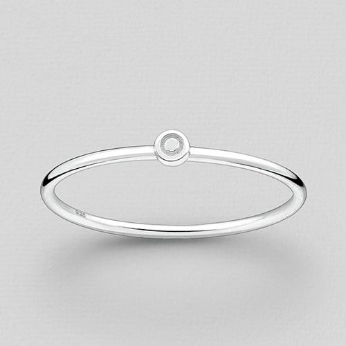 Silver Small Circle Ring