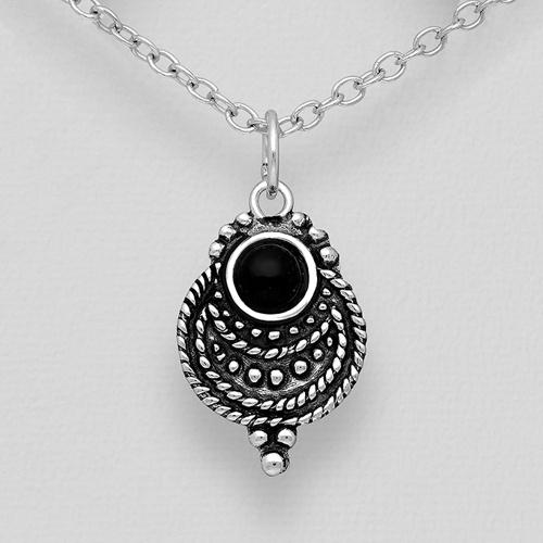 Silver Oxidized Pendant