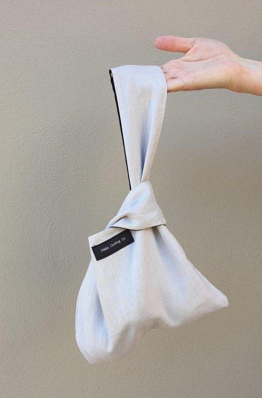 Linen Knot Bag