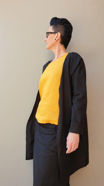 Linen Jacket With Sleeves